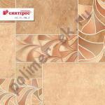 Линолеум Синтерос Дельта НИЛ 2 1,5м плитка с цветами [нарезка]