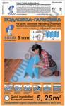 Подложка-гармошка Солид 5мм 5мм, 1.05м х 0,25м = 5,25м2, Синяя